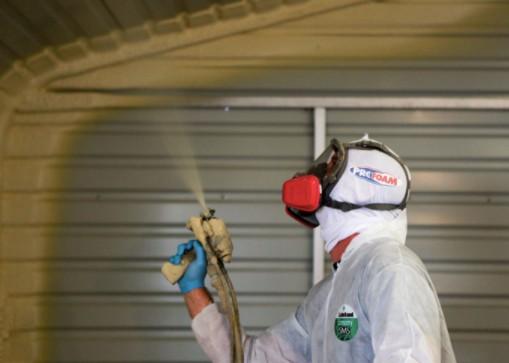 Man Installing Spray Foam